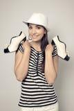 Девушка и ботинки Стоковое Изображение RF