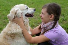 Девушка и ее собака стоковые фото
