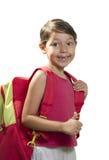 Девушка идет к школе Стоковые Фото