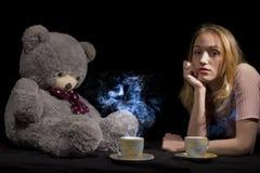 Девушка и игрушечный Стоковое фото RF