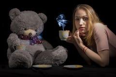 Девушка и игрушечный Стоковая Фотография