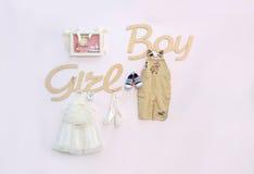 Девушка или мальчик Партия детского душа стоковое фото rf