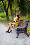 Девушка и осень Стоковое Фото