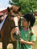 Девушка и лошадь Стоковая Фотография RF