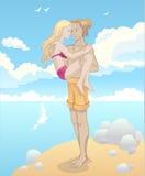 Девушка и парень в влюбленности Стоковое Фото