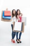 Девушка и покупка Стоковое Фото