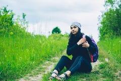 Девушка и природа Стоковое Изображение RF