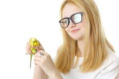 Девушка и птица Стоковая Фотография