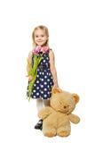 Девушка и плюшевый медвежонок стоковое фото