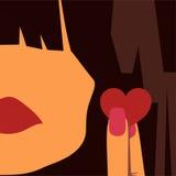 Девушка и сердце иллюстрация штока
