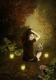 Девушка и сыч Стоковая Фотография RF