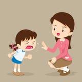 Девушка и учитель ярости Стоковая Фотография RF