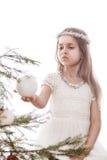 Девушка и шарик Стоковая Фотография RF