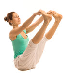 Девушка йоги Стоковое Изображение