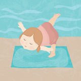 Девушка йоги Стоковое Фото