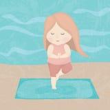 Девушка йоги Стоковые Изображения RF