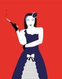 Девушка кабара с сигаретой Стоковые Изображения