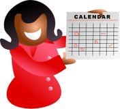 девушка календара иллюстрация вектора