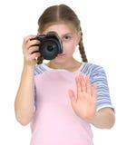 девушка камеры немногая Стоковое Изображение