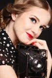 девушка камеры старая Стоковое Фото