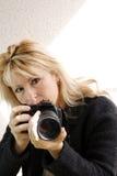 девушка камеры Стоковое Изображение