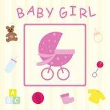 девушка карточки младенца Стоковые Фото