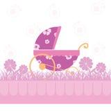 девушка карточки младенца Стоковая Фотография