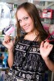 девушка карточки славная Стоковая Фотография