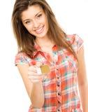 девушка карточки Стоковое Изображение