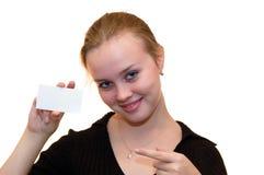 девушка карточки стоковое изображение rf