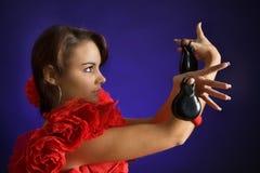 девушка кастанетт Стоковая Фотография RF