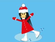 Девушка катания на коньках Стоковое Изображение RF
