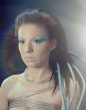 Девушка киборга Стоковое Фото