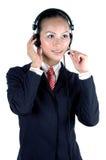 девушка китайца центра телефонного обслуживания Стоковые Изображения