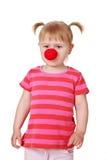 девушка клоуна унылая Стоковые Изображения