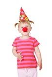 девушка клоуна Стоковое Изображение