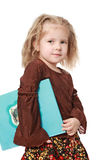 девушка книги красотки Стоковое Изображение RF