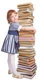 девушка книги немногая Стоковые Фото