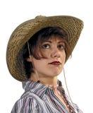 девушка ковбоя самолюбивая стоковое изображение rf