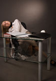 девушка коллежа тела безжизненная Стоковое Изображение
