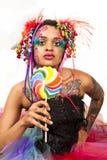 девушка конфеты ретро Стоковое Изображение
