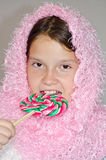 девушка конфеты Стоковые Фотографии RF