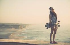 Девушка конькобежца Стоковые Фото