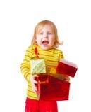 девушка коробки Стоковая Фотография RF