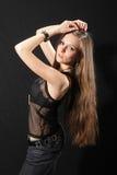 Девушка коромысла с гитарой Стоковое Фото