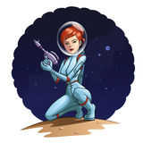 Девушка космоса Стоковая Фотография