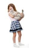 девушка кота немногая Стоковые Изображения