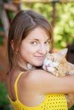 девушка кота предназначенная для подростков Стоковое Фото