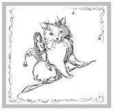 девушка кота Иллюстрация вектора