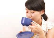 девушка кофе Стоковое Изображение